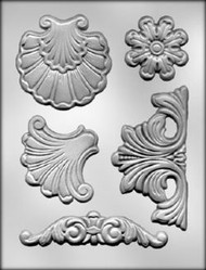 BAROQUE MOLD SET--4 Molds