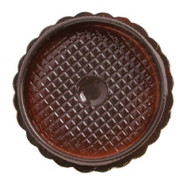 "3"" ROUND BOX-BROWN--PKG/25"