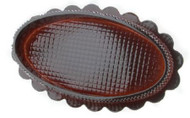 "6"" OVAL BOX-BROWN"