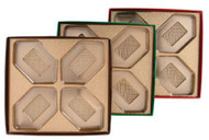 "5 X 5 X 1"" BROWN BOX-4 CAV GOLD INSERT"