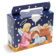 "1/4# FOLDING HANDLE NATIVITY TOTE 2 1/2"" X 1 5/16"" X 3 3/8""--PKG/25"