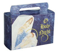 "1/2# FOLDING TOTE ""O HOLY NIGHT"" 3"" X 1 3/4"" X 4 1/4""--PKG/25"