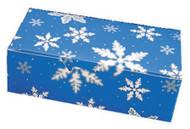 "1/2# FOLDING BLUE SNOWFLAKES 5 1/2"" X 2 3/4"" X 1 3/4""--PKG/25"