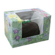 "1/2# FOLDING EGG BOX W/WINDOW 4 5/8"" X 3 1/8"" X 3 1/8""--PKG/25"