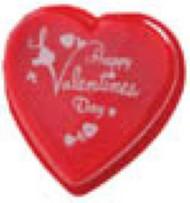 8 OZ PRINTED CLEAR LID HEART