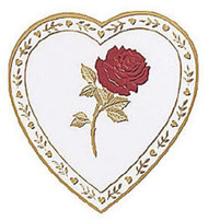 1# HEART BOX-1 LAYER ROSE
