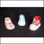 Fondant Baby Shoe Templates--3 Styles--Downloadable