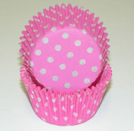 "POLKA DOT BKG CUP PINK--2"" Base, 1-1/4"" Wall---BOX/500"