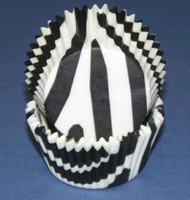 "ZEBRA STRIPE BAKE CUP --2"" Base, 1-1/4"" Wall---BOX/500"