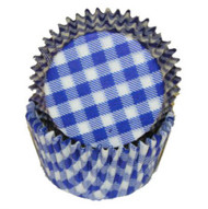 "GINGHAM BLUE BAKING CUP--2"" Base, 1-1/4"" Wall---PKG/500"