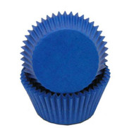 "BLUE GLASSINE BAKING CUPS--2"" Base, 1-1/4"" Wall--PKG/500"
