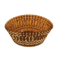 "BROWN/GOLD BAKING CUP MUFFIN--2"" Base, 1-1/8"" Wall--BOX/1000"