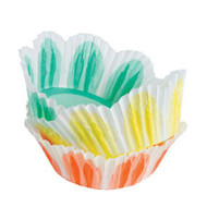 "FLUTED ASST BAKING CUP MUFFIN--2"" base, 1 1/8"" wall--BOX/1000"