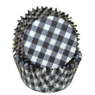 "GINGHAM BLK MINI BKG CUP-1-1/2"" Base, 3/4"" Wall--PKG/500"