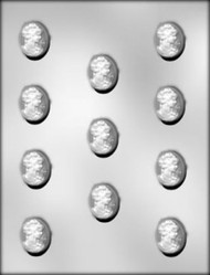 "1-3/8"" CAMEO CHOCOLATE CANDY MOLD"