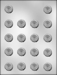 """1"""" SCALLOPED MINT CHOCOLATE CANDY MOLD"""
