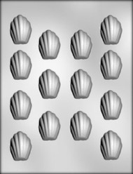 "1-5/8"" MADELEINE CHOCOLATE CANDY MOLD"