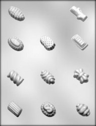 "1-1/8"" - 1-1/2"" FANCY LOG CANDIES CHOCOLATE CANDY MOLD"