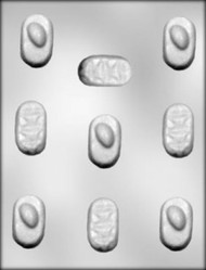 """2"""" OVAL CANDY PIECES CHOCOLATE CANDY MOLD"""