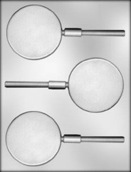 "2 3/4"" ROUND SUCKER CHOCOLATE CANDY MOLD"