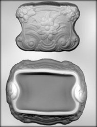 "6"" FLORAL BOX CHOCOLATE CANDY MOLD"