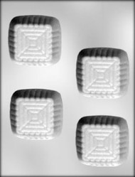 "2-3/4"" SQ DESSERT CUP CHOCOLATE CANDY MOLD"