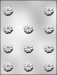 """1-1/4"""" FLUTED ROUND CHOCOLATE CANDY MOLD"""