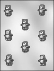 "1-2"" PUFFY BEAR CHOCOLATE CANDY MOLD"