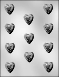 "1-1/8"" HEART W/ROSE CHOCOLATE CANDY MOLD"