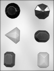 "2"" FACETED JEWELS CHOCOLATE CANDY MOLD"