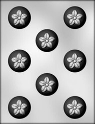 "1-3/8""FLOWER BON BON CHOCOLATE CANDY MOLD"