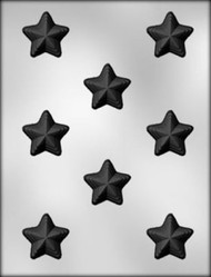 "1-3/8"" STACKED STAR CHOCOLATE CANDY MOLD"
