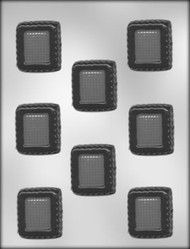 "1-3/4"" SQUARE CHOCOLATE CANDY MOLD"