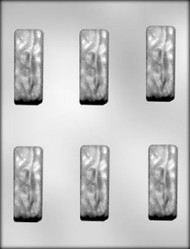 "2-7/8"" CANDY BAR CHOCOLATE CANDY MOLD"