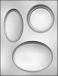 "5-1/4"", 4-1/4"", 3-3/4"" ASST PLAQUE CHOCOLATE CANDY MOLD"