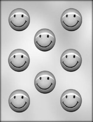"1-3/4"" SMILEY FACE CHOCOLATE CANDY MOLD"
