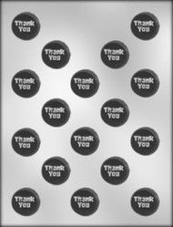 "1"" THANK YOU MINT CHOCOLATE CANDY MOLD"