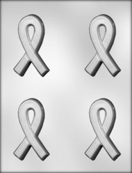 "3-3/8"" AWARENESS RIBBON/THICK CHOCOLATE MOLD"