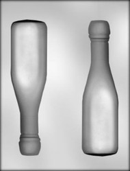 "7-1/8"" 3D CHAMPAGNE BOTTLE CHOCOLATE CANDY MOLD"