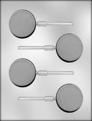 "2-1/8"" ROUND SUCKER CHOCOLATE CANDY MOLD"