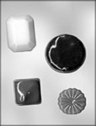"3-1/8"" x 4-3/8"" MINI CHOCOLATE CANDY MOLD-ALL OCCASION  25/PKG"