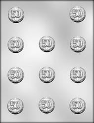 """1-3/8"""" 50 MINT CHOCOLATE CANDY MOLD"""