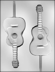 "6-3/8"" GUITAR SUCKER CHOCOLATE CANDY MOLD"