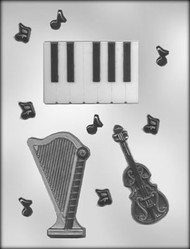 "5/8"" - 3-3/4"" STRING TRIO CHOCOLATE CANDY MOLD"