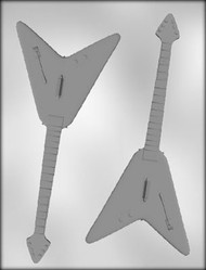 "7-3/4"" V GUITAR CHOCOLATE CANDY MOLD"