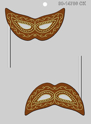 "4.5"" MARDI GRAS MASK SUCKER CHOCOLATE CANDY MOLD"