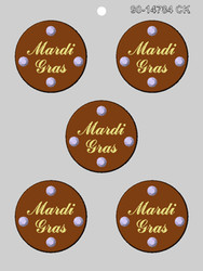 "2.5"" MARDI GRAS MEDALLION CHOCOLATE CANDY MOLD"