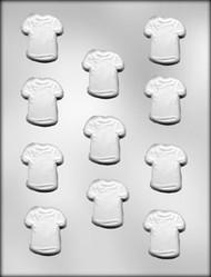 "1-3/4"" T SHIRT CHOCOLATE CANDY MOLD"