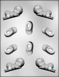 "2-3/4"" BABY & 1-3/4"" BOOTIE CHOCOLATE CANDY MOLD"