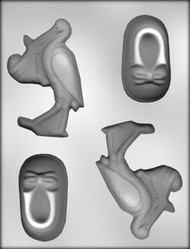 "4-1/2"" STORK& 3-1/4"" BOOTIE CHOCOLATE CANDY MOLD"